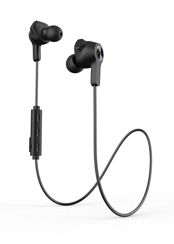 Bluetoothヘッドフォン 磁気スポーツヘッドフォン IPX7 防水イヤホン ハイファイステレオサウンド ノイズキャンセリングマイクヘッドホン レディース メンズ (ブラック)   B07QKJT922