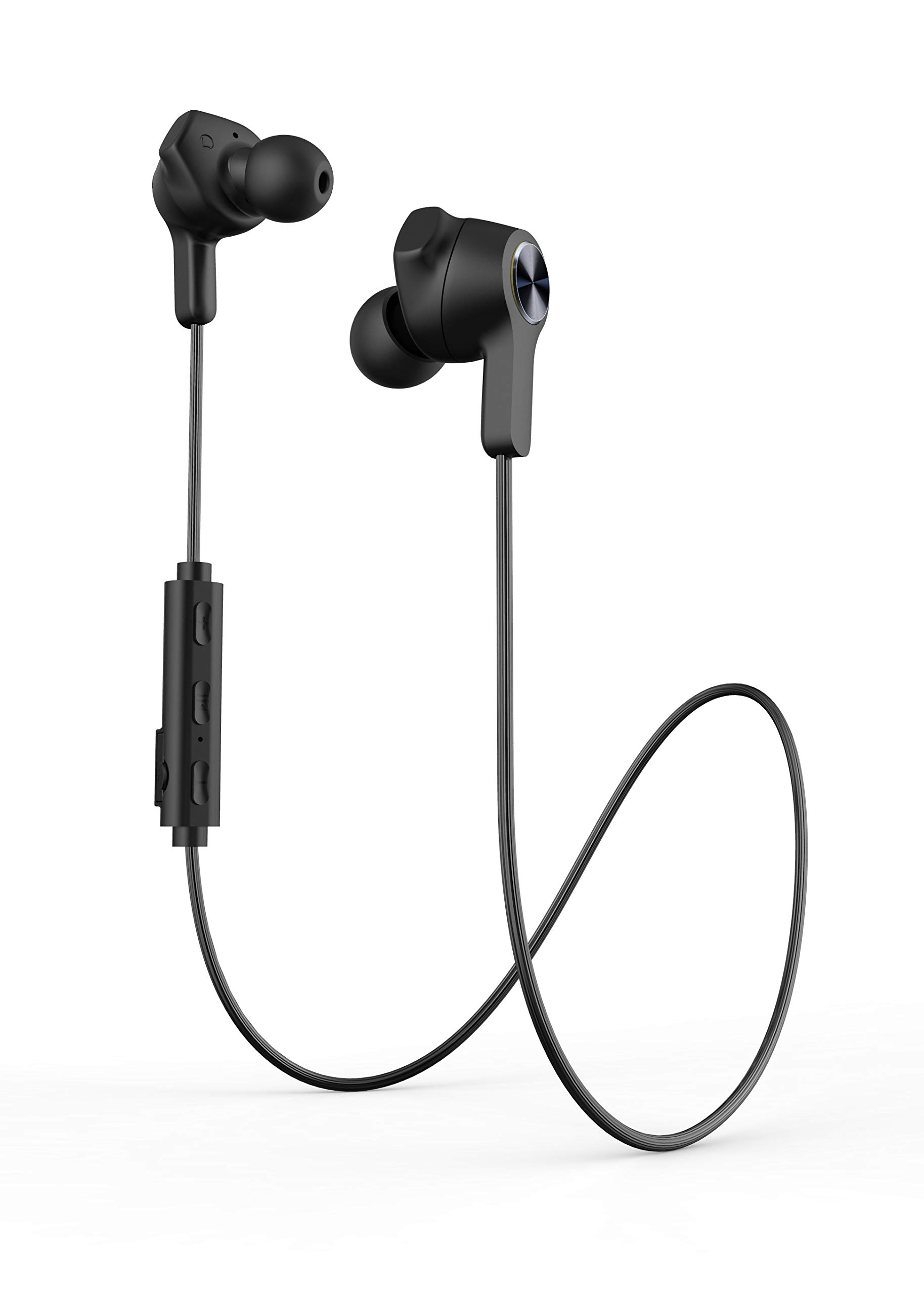 Bluetooth Headphones, Wireless Headphones Sport Earbuds, IPX7 Sweatproof Sports Noise Cancelling Stereo Neckband Earphones