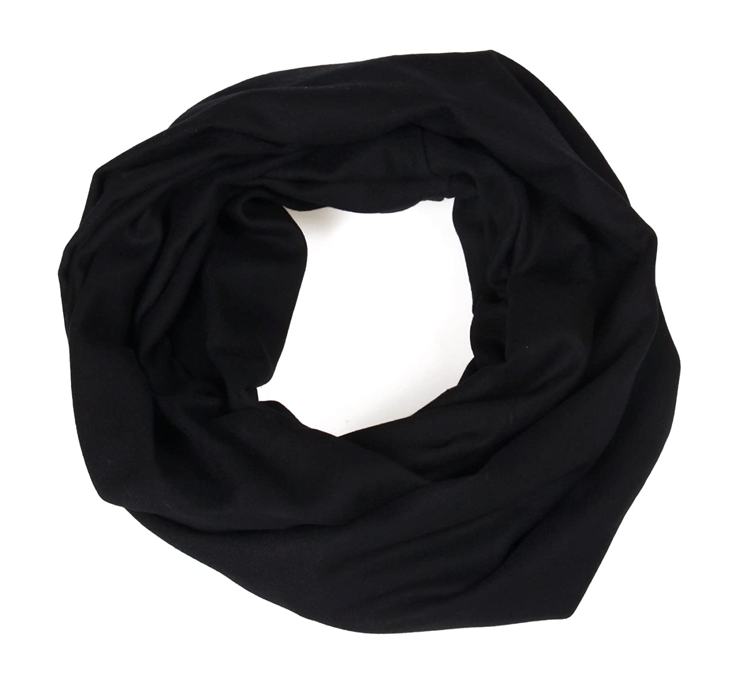 Massi Morino - Braga de suave cachemira, unisex, negro, 45 x 45 cm