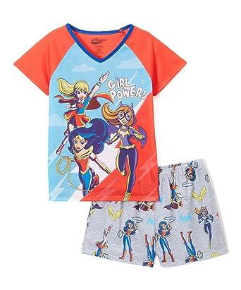 ebe7679ea4 Amazon.com  Super Hero Girls DC 2-Piece Pajama Set Girl Power Wonder ...