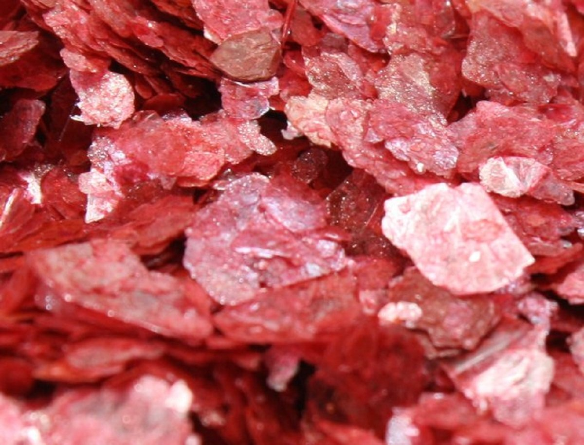 Meyer Imports Natural Mica Flakes - Red - Cinnabar - One Pound - #311-4325