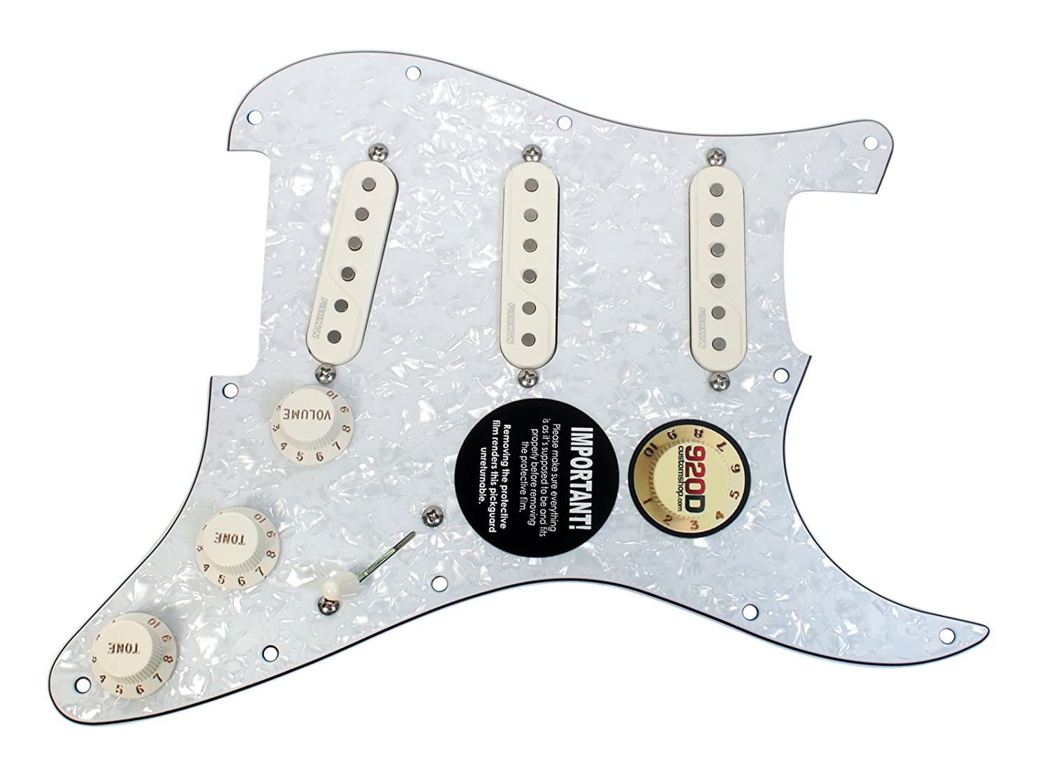 Pre Wired Fishman Fluence Loaded Pickguard For Fender Wiring Diagram Strat Stratocaster Wp Pa Musical Instruments