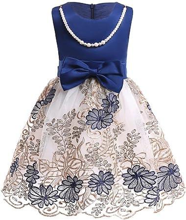 Kid Girl Bowknot Baby Princess Tutu Dress Party Wedding Christening Clothes 0-5T