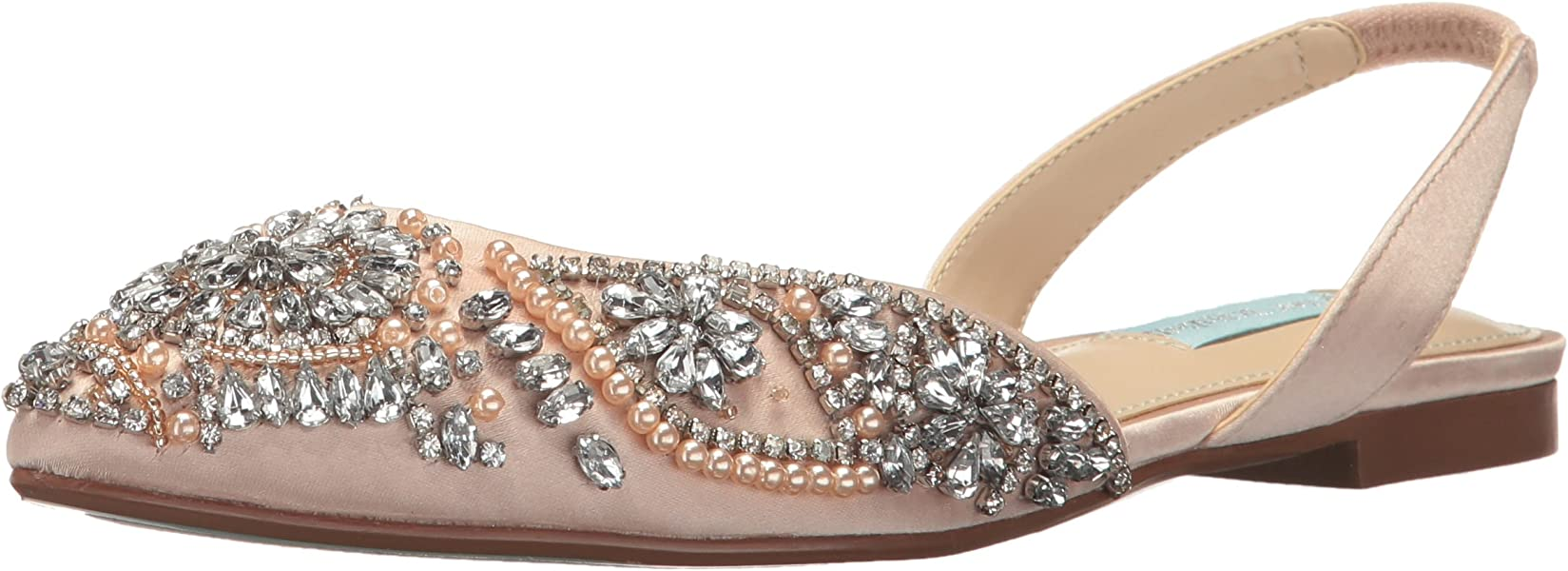 85cff1544f2 Blue by Betsey Johnson Women s Molly Champagne Satin 5 ...