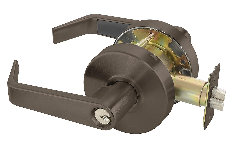 613E Dark Satin Bronze Finish 2 3//4 Backset Yale AU4605LN x 1806 x 613E KR Cylindrical Lockset Grade 2 Storeroom Function Keyed Random Para Keyway 6 Pin