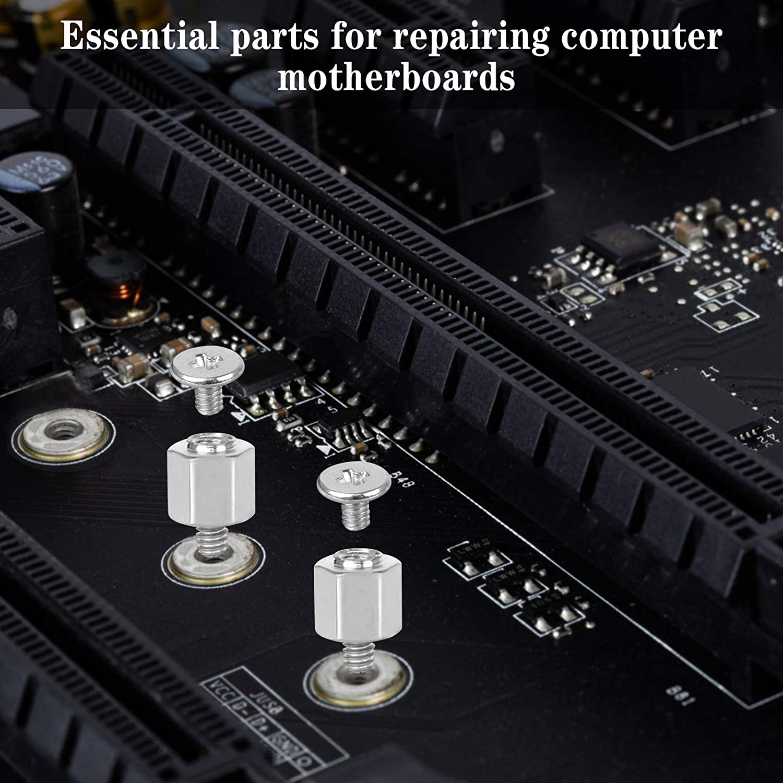 Huayue 26 PCS PC Kit de vis dordinateur M.2 SSD NVMe Standoff et vis de vis de fixation /Écrou hexagonal PC avec 12 vis PCS Entretoises un tournevis pour carte m/ère ASUS une douille /à vis