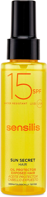Sensilis Sun Secret - Aceite Protector para el Cabello con SPF15 - Protector, Nutritivo y Reparador - 100 ml