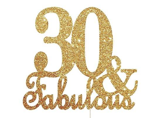 Decoración para tarta de 30 cumpleaños, diseño con texto en ...