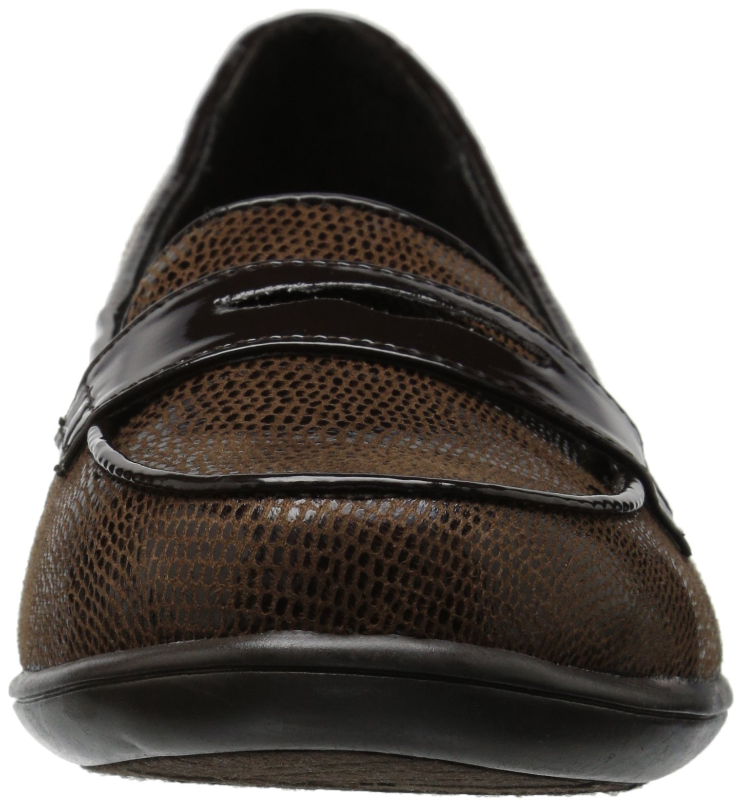 Soft Style by Hush Puppies Women's Daly Penny Loafer, Dark Brown Lizard/Patent, 8.5 W US by Soft Style (Image #4)