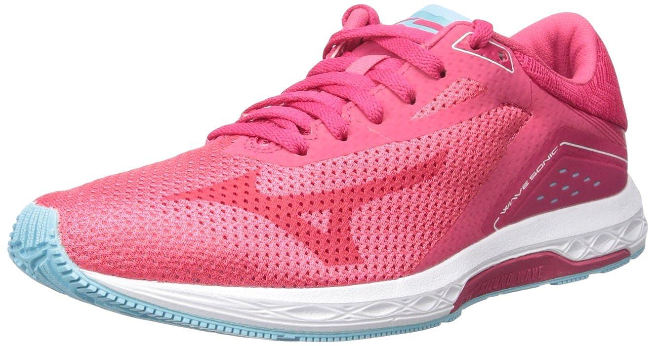 Paradise Pink Virtual Pink bluee Topaz Mizuno Women's Wave Sonic Running shoes Pink
