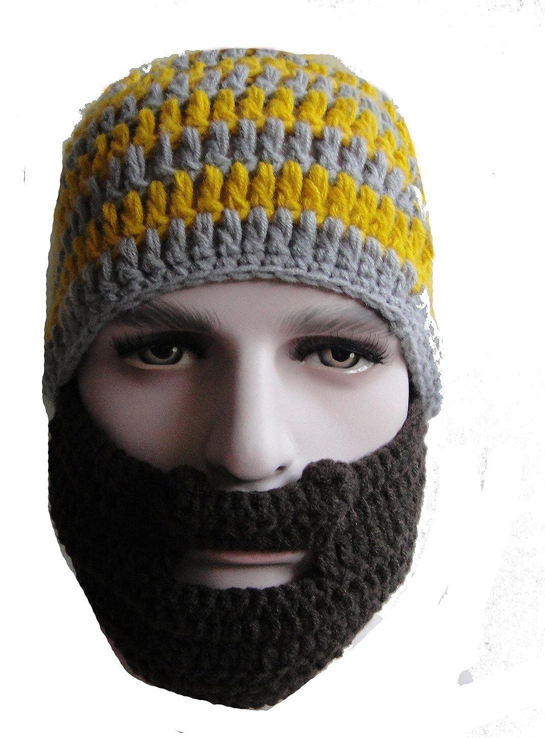 Beanie Hat Beard Knitting Pattern