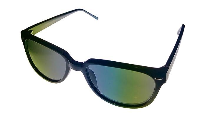 ce227c29374 Amazon.com  Perry Ellis Mens Black Square Plastic Sunglass