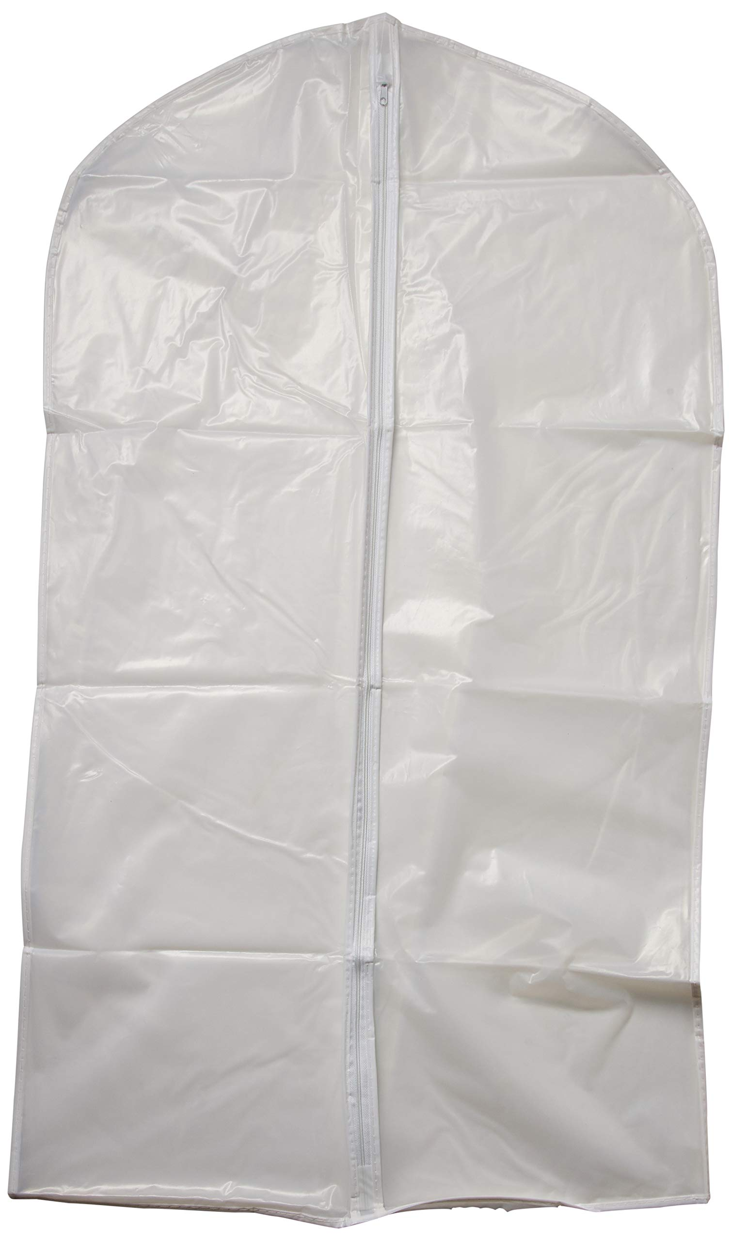GTI Transparent Garment Covers Zipper Clothes Bags - Set of 5, (5 x Small)
