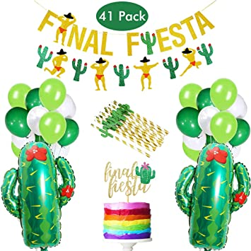 Amycute 41 Piezas Final Fiesta Party Globo de Cactus ...