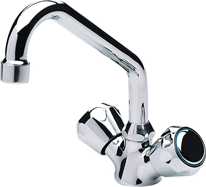 Scandvik 10881 Compact Marine Galley Pull Out Faucet Silver
