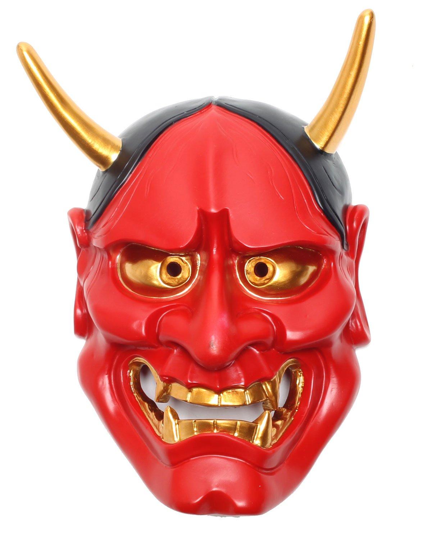 StyleCos 般若 はんにゃ お面 仮面 飾り インテリア 壁掛け 日本 伝統 大サイズ (紅) B016D8WRGC 紅 紅