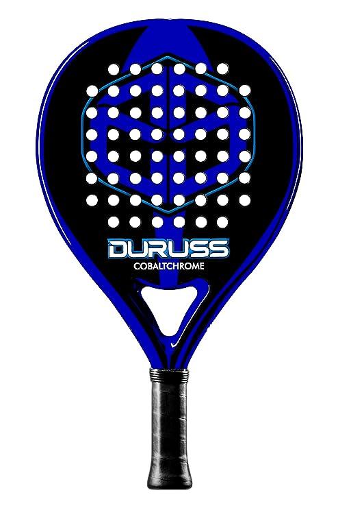 Duruss Profesional Cobalt Chrome Pala de Pádel, Adultos Unisex, Black/Blue