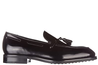 Tods Mens Leather Loafers Moccasins Black US Size 6 XXM0PZ0F430AKTB999