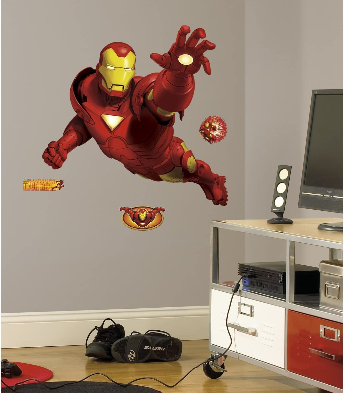 Pre-cut Peel and Stick Sticker Decor Party Decaration Disney Marvel 6110207 Tony Stark Iron Man Giant Wall Decal Marvel Superhero Comic