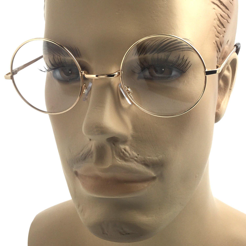Fresh Amazon.com: Glasses optical frame unisex Gold-Medium(1.8inch  XB01