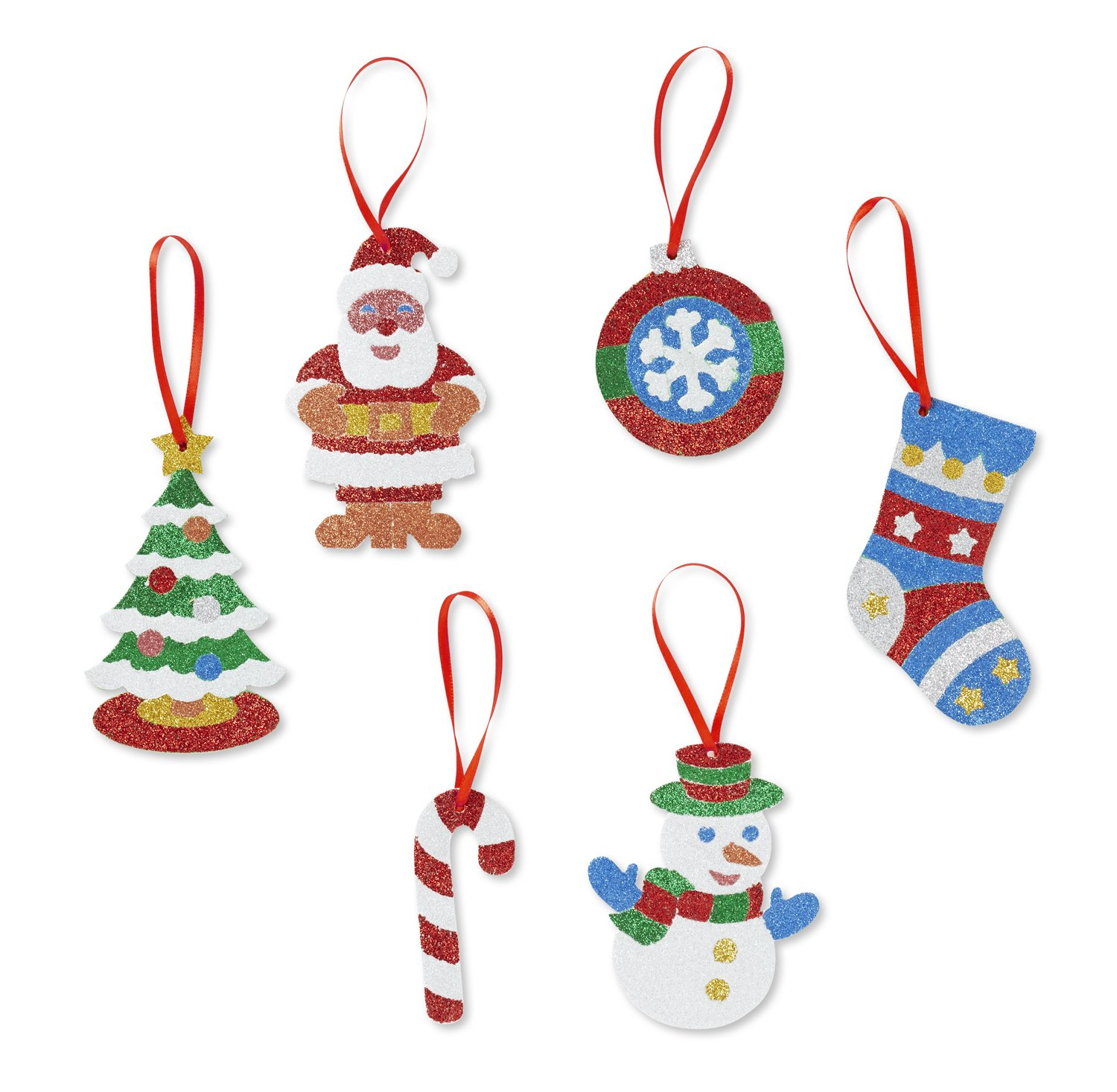 Amazon Melissa & Doug Mess Free Glitter Christmas Ornaments 6
