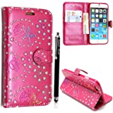 GSDSTYLEYOURMOBILE {TM} APPLE IPOD TOUCH 4 4TH GEN PRINTED PU LEATHER FLIP CASE COVER+STYLUS