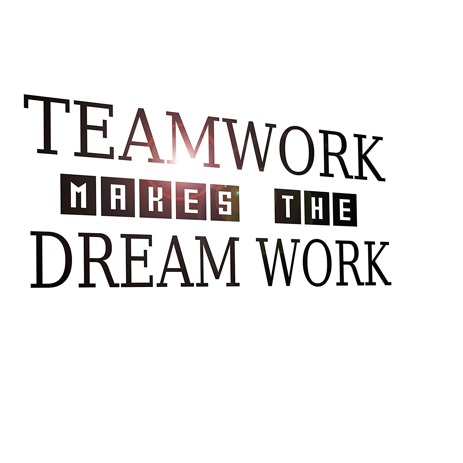 Vinyl Wall Decal Stickers Motivation Quote Words Inspiring Teamwork Dream Work 2331ig (22.5 in x 10 in)