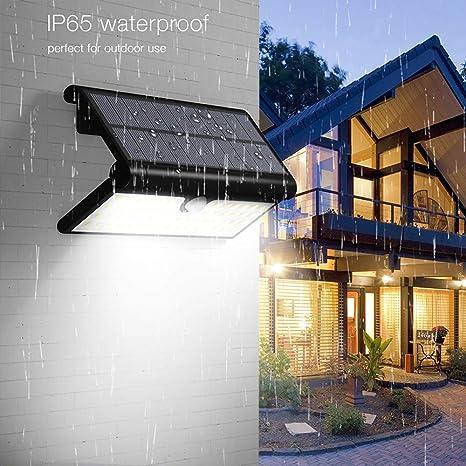 Prevently – Lámpara Solar para jardín, lámpara Solar Exterior 2 W 42 LED Control de luz + luz de inducción del Cuerpo Humano para casa, jardín, Caminos, árbol, etc.: Amazon.es: Deportes y aire libre