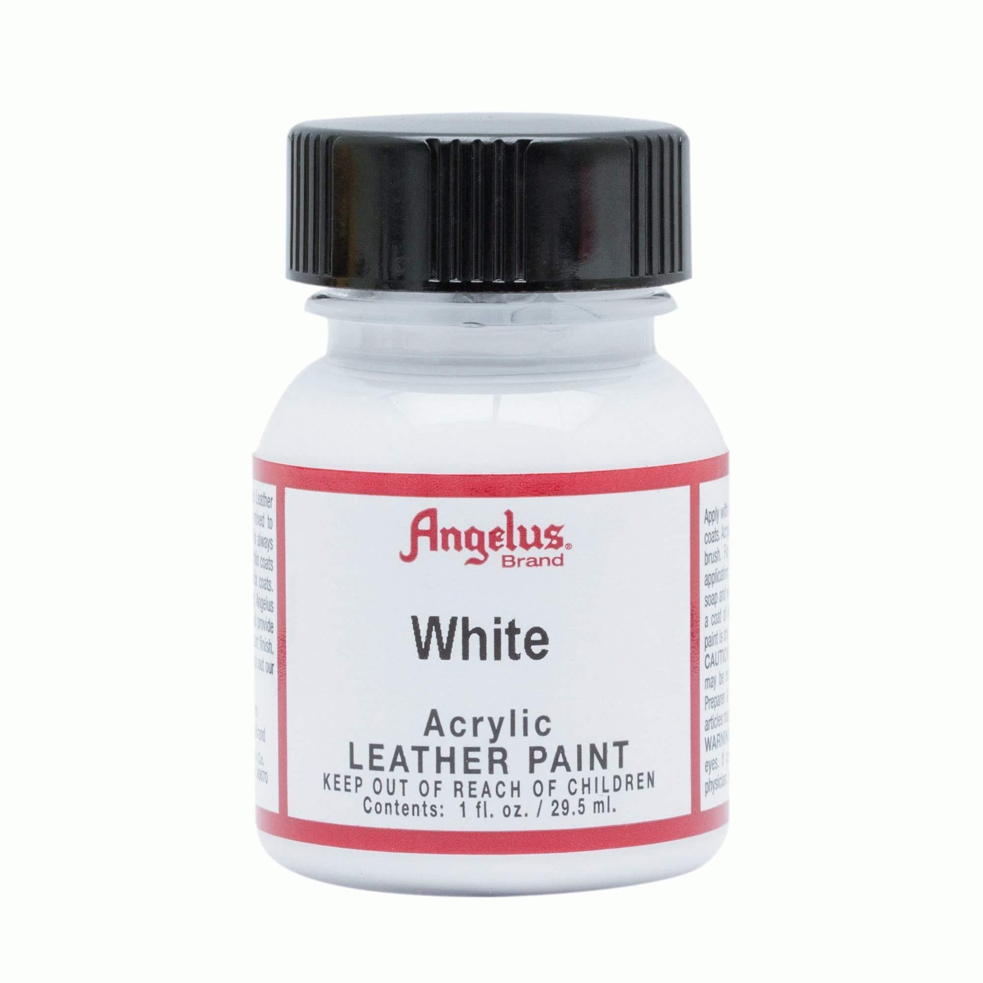 Angelus Acrylic Leather Paint, White, 1 oz