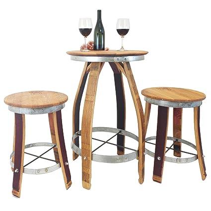 Sensational Central Coast Creations Pub Set Swivel Top Stools Wine Barrel Handcrafted Wine Barrel Furniture Download Free Architecture Designs Scobabritishbridgeorg