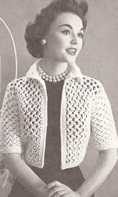 Amazon Com Vintage Crochet Pattern To Make Knot Lace Bolero