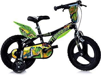 Dinosaurier Kinderfahrrad Dino- Trex Jungenfahrrad ✓ TÜV examinado original de la bicicleta de niños con Stützrädern - la bicicleta como regalo para jóvenes, tamaño Zoll: Amazon.es: Deportes y aire libre