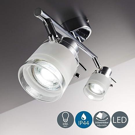 LED Deckenlampe Badezimmer Leuchte IP44 Badlampe Spot-Strahler GU10 Wohnzimmer