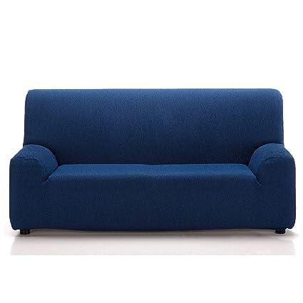 Jarrous Funda de Sofá Elástica Modelo Arucas, Color Azul-4, Medida 1 Plaza – 70-110cm
