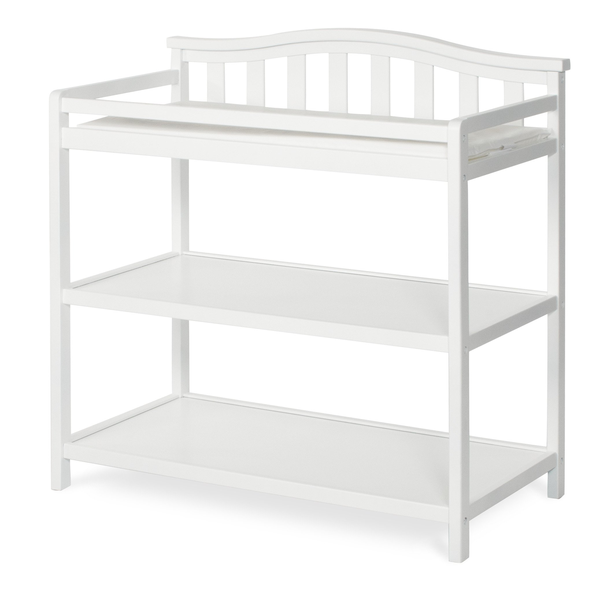 Child Craft Arched Top Changing Table with Pad, Matte White