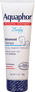 Aquaphor Baby Healing Ointment - for Chapped Skin, Diaper Rash and