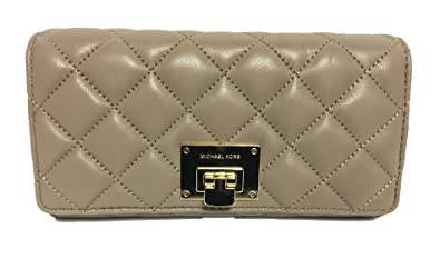 36836d812c31 MICHAEL Michael Kors Astrid Soft Quilted Leather Carry All Wallet Dark  Taupe/Gold