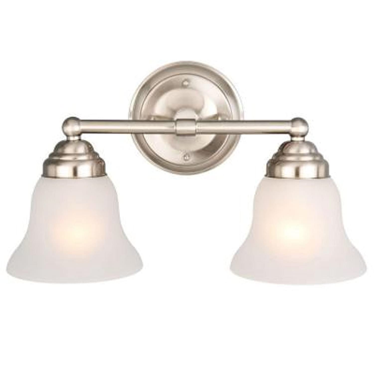 Hampton Bay 2 light Brushed Nickel Vanity Amazon