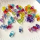 100 chupetes decorativos en miniatura, 2 cm, chupetes para fiestas ...