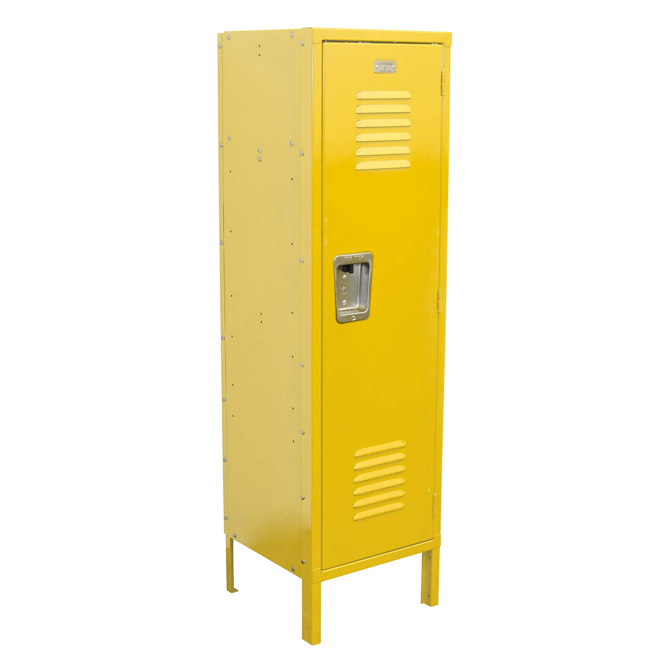 Kids Locker 15W x 15D x 54H Unassembled in 8 Amazing Colors (Yellow)