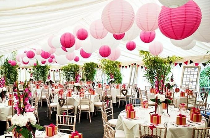 18 unidades blanco y rosa tulipas de color rosa lámpara ...