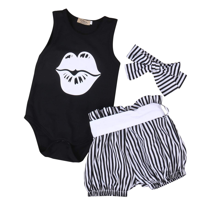 Toddler Baby Girls Bodysuit Short-Sleeve Onesie Dance Girl Like Butterfly Print Rompers Winter Pajamas