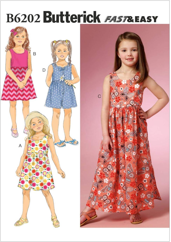 4-5 mod/èle Butterick Pour enfants//filles robe 2-3