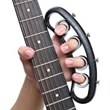 FOVERN1 Guitar Finger Expansion, Finger Sleeve Finger Force Span Practing Trainer TooL Training Bands for Guitar Bass Piano F