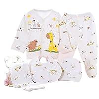 Kris&Ken Newborn Baby 5 Piece Layette Unisex Essentials Bundle (Yellow)