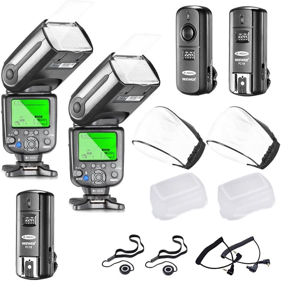Neewer, NW565EX E-TTL, Slave Flash Speedlite Kit para Cámara Réflex Digital de Canon