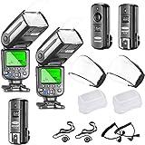 Neewer NW565EX E-TTL Slave Flash Speedlite Kit for Canon DSLR Camera,include:(2)TTL Flash+(1)2.4G Wireless Trigger(1…