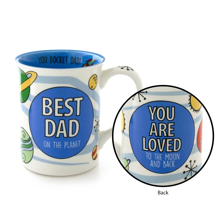 "Our Name is Mud /""Best Dad Space/"" Stoneware Mug 16 oz Enesco 4052357"