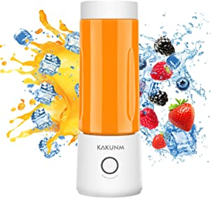 Portable Blender, Personal Blender Smoothies and Shakes, Mini Blender 4000mAh USB Rechargeable with Four Blades, Handheld Blender Fruit Juice,Mixer,Personal Size Blender for Sports,Travel,Gym