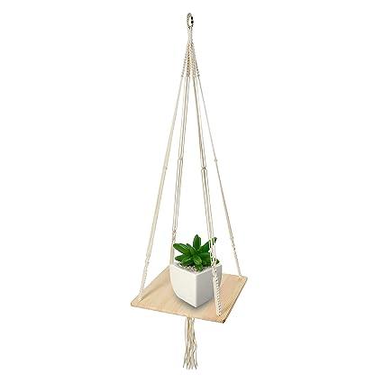 Amazon Com Macrame Shelf Planter Hanger For Indoor Plants With